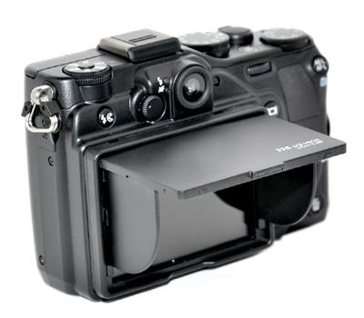 画像1: JJC製 3.0インチ 液晶LCD用 折りたたみ式 液晶フード 液晶LCDシェードフード 貼付け通用型