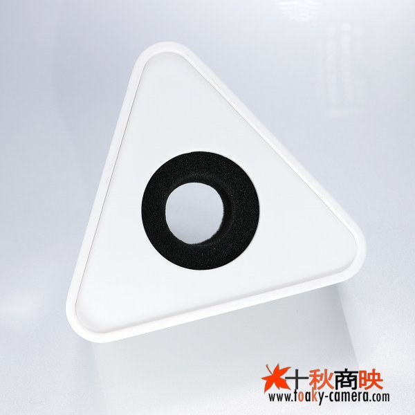 画像1: 業務用 現場取材 マイク用 放送局・チャンネルロゴ貼り 分解組立可能 三角型 クッション付 白