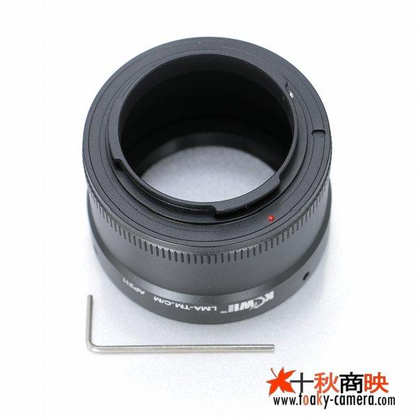 画像2: KIWIFOTOS製 Tマウントレンズ→キャノン EOS M ミラーレスカメラ EF-Mマウントアダプター