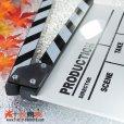 画像4: ドラマ・映画撮影・自主制作用 アクリル製 ホワイトアクリルボード式 業務用 カチンコ 黒白柄 (4)
