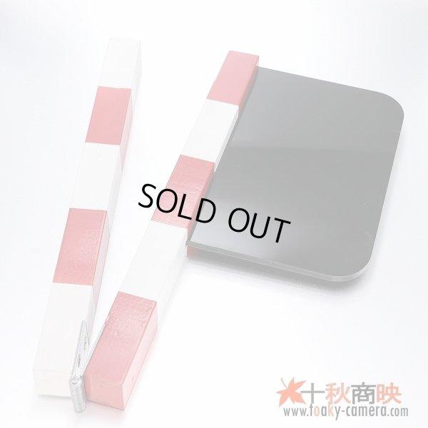 画像2: 片手日本式 映画撮影 自主制作用 ホワイトボード式 カチンコ 赤白柄 オリジナル黒アクリル製【難有】