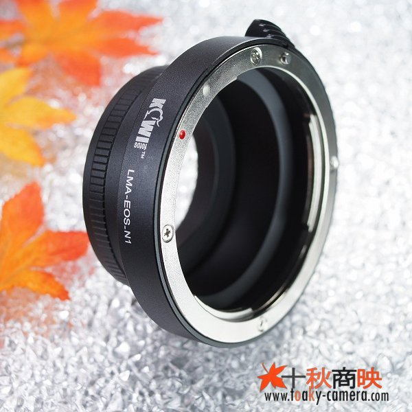画像2: KIWIFOTOS製 キャノン Canon EOS EFレンズ→ ニコン1 Nikon 1シリーズ カメラボディ マウントアダプター