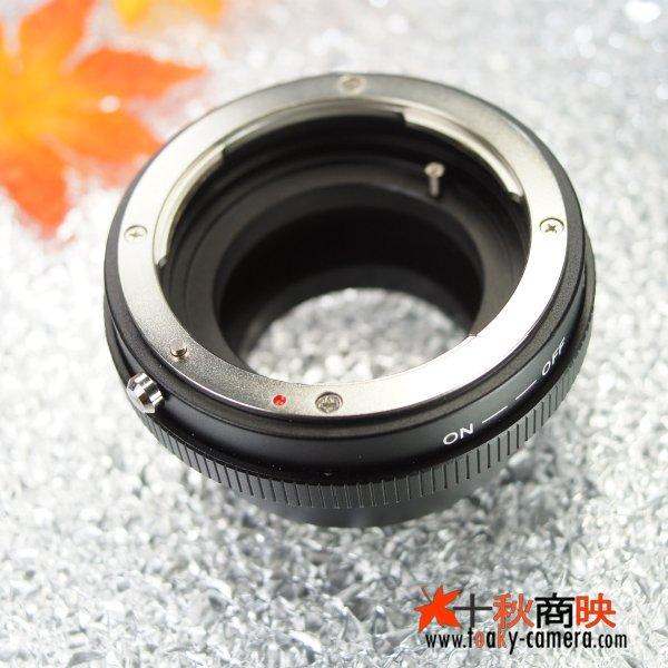 画像3: 絞り操作可能!KIWIFOTOS製 ニコン Nikon Fマウント AI/AI-S/AF-I/AF-Sレンズ Gレンズ→ニコン1 Nikon 1シリーズ カメラボディ マウントアダプター
