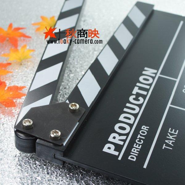 画像3: 改良版!ドラマ・映画撮影・自主制作用 木製 業務用 カチンコ 黒板式