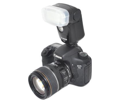 画像2: JJC製 Canon スピードライト 320EX 専用 フラッシュ ディフューザー 乳白色
