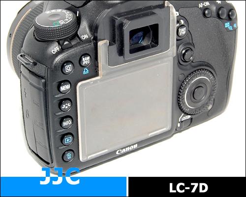 画像1: JJC製 Canon キャノン EOS 7D 専用 液晶保護カバー