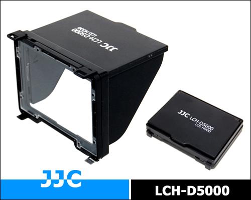 画像3: JJC製 Nikon ニコン D5000 専用 折りたたみ式 液晶フード 液晶LCDシェードフード