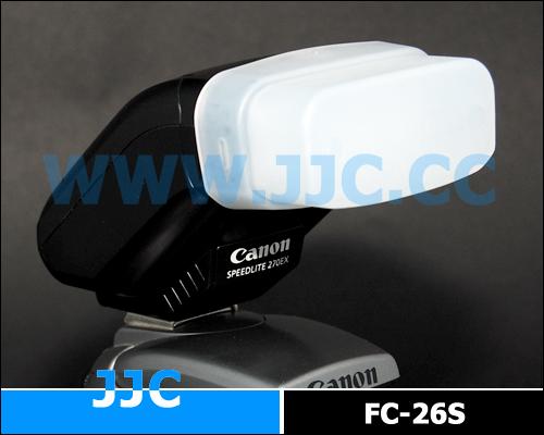 画像1: JJC製 Canon ストロボ 270EX 専用 フラッシュ ディフューザー 乳白色