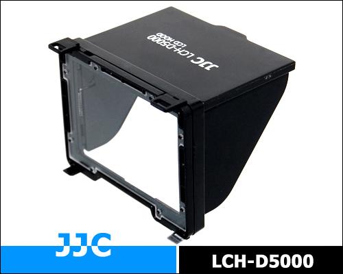 画像1: JJC製 Nikon ニコン D5000 専用 折りたたみ式 液晶フード 液晶LCDシェードフード