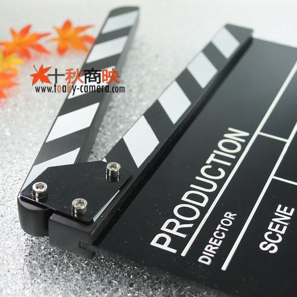 画像3: 黒アクリル製 ドラマ・映画撮影・自主制作用 ブラックボード式 業務用 カチンコ 黒白柄