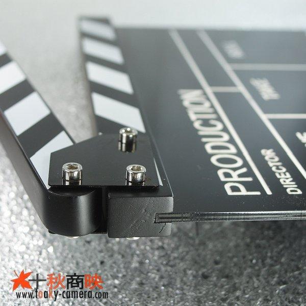 画像5: 黒アクリル製 ドラマ・映画撮影・自主制作用 ブラックボード式 業務用 カチンコ 黒白柄