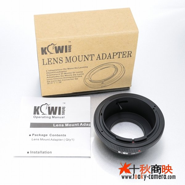 画像5: KIWIFOTOS製 Canon キャノン FD / New-FD レンズ→ニコン1 Nikon 1シリーズ カメラボディ マウントアダプター