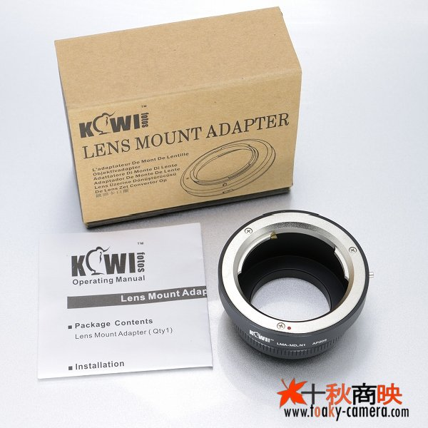 画像5: KIWIFOTOS製 Minolta ミノルタ MDレンズ→ニコン1 Nikon 1シリーズ カメラボディ マウントアダプター