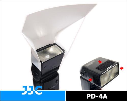 画像1: JJC製 ストロボ スピードライト フラッシュ 汎用 ディフューザー PD-4A