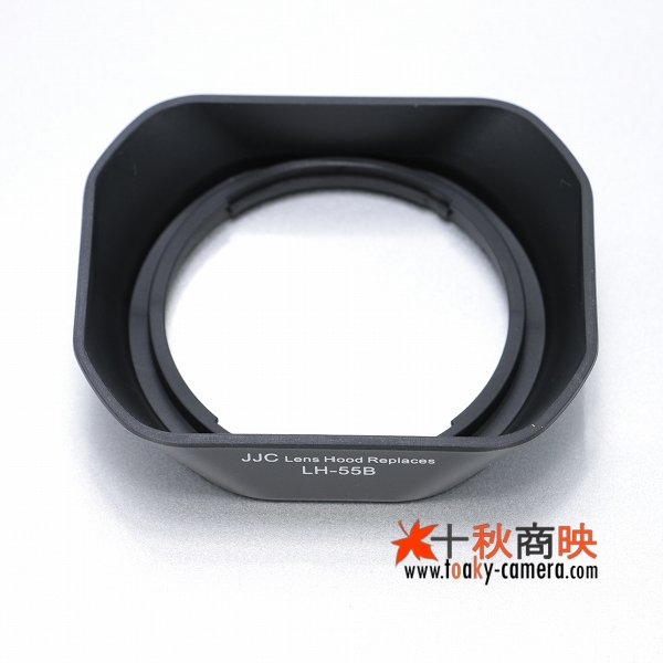 画像3: JJC製 オリンパス OLYMPUS M.Zuiko 9-18mm ED 12-50mm F3.5-6.3 EZ 用 レンズフード LH-55B 互換品 黒