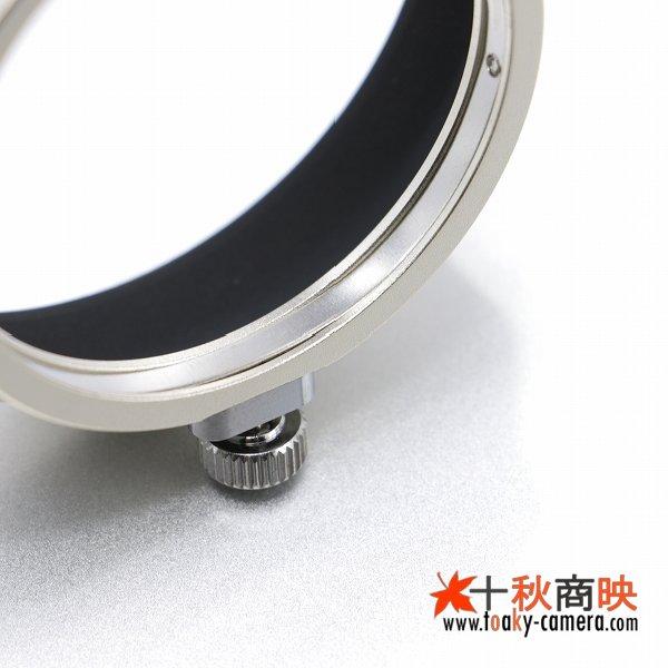 画像4: JJC製 オリンパス OLYMPUS M.ZUIKO DIGITAL ED 17mm F1.8 用 メタル レンズフード LH-48B 互換品 薄金色