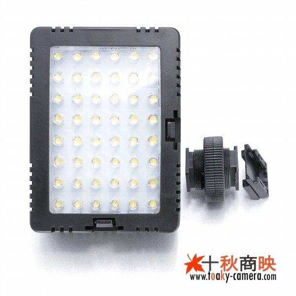 画像4: JJC製 48球 LED ビデオライト 消費電力5W 単三電池4本仕様