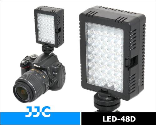 画像5: JJC製 48球 LED ビデオライト 消費電力5W 単三電池4本仕様