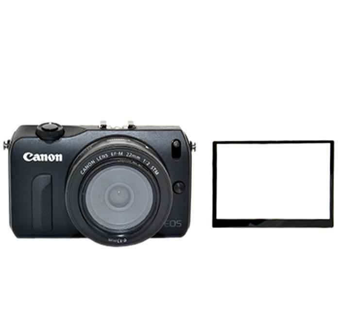 画像1: JJC製 キャノン EOS-M 一眼ミラーレスカメラ 専用 液晶LCD 保護 セミハードシート